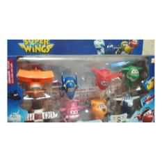 Promo Toko Henddia Mainan Robot Super Wings Mini Hangar 8 Pcs