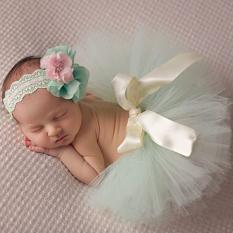 Jual Hengsong 30 Hari Fotografi Alat Peraga Bayi Baru Lahir Baju Bayi Rok Tutu Dalam Kostum Princess Ikat Kepala Hijau Muda Hengsong Online