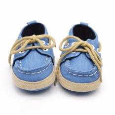 Hequ 1 Pair Baby Boy G*rl Crib Lembut Bawah Sepatu Bayi Balita Sepatu Sneaker Fit 18 Bulan Light Biru Intl Hequ Murah Di Dki Jakarta