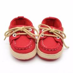 Jual Hequ 1 Pair Baby Boy G*rl Crib Lembut Bawah Sepatu Bayi Balita Sepatu Sneaker Fit 18 Bulan Merah Intl Hequ Ori
