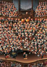 Barang siap sedia HEYE orkestra konser Jerman impor Puzel mainan 2000 Renoir
