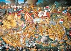 Barang siap sedia HEYE Trafalgar pertempuran laut impor Puzel 2000 Renoir