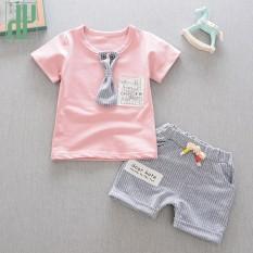 Anak Pakaian Pria Summer Baby Boy Pakaian Kasual Anak Sport Setelan Lengan Pendek T-Shirt + Celana Denim Girl Pakaian Set-Intl By Hh Official Store
