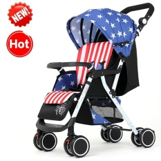 Toko High Grade Folding Four Wheeled Shockproof Baby Carriage Intl Terlengkap Di Tiongkok