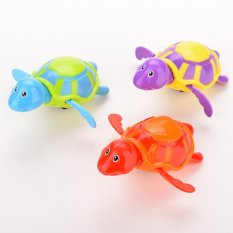 "Tinggi Kualitas Baby Toys Little Turtle Bath Toys Swimming Hewan Mainan Air Bandung Photo: ""Brothers And Perempuan Acak Anak-Intl"
