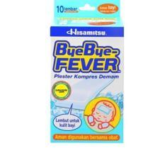 Hisamitsu Bye Bye Fever Baby 10'S - Plester Kompres Demam Bayi, Pereda Panas, Penurun Panas, Penurun Demam Bayi