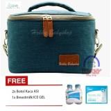 Diskon Produk Hokky Babyshop Bka Cooler Bag Starter Kit Tas Penyimpan Asi Gratis Ice Gel 420Gr Dan 2 Botol Kaca Thermal Bag Biru