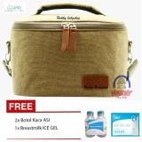 Jual Beli Hokkybaby Bka Cooler Bag Starter Kit Tas Penyimpan Asi Gratis Ice Gel 420Gr Dan 2 Botol Kaca Thermal Bag Gold