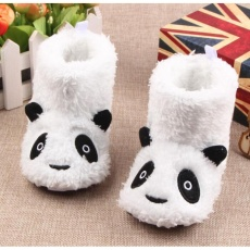 Honey Bee Babyshop sepatu prewalker boots panda putih bayi baby shoes