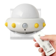 honful Kids Small Night Light With Timer Plug In Wall Night LampFor Children. Remote Control For 3 Lighting Mode. 5 Bright Degree.Timing 10/30min(White) - intl
