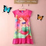 Hot Baru Little Mermaid Ariel Pendek Mini Gaun Putri Gadis Kids Pajama Night Dress Hadiah Intl Oem Murah Di Tiongkok