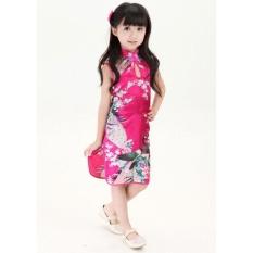 Ulasan Hot Baru Bergaya Cina Anak Anak Gadis Bayi Cheongsam Dress Gaun Ys 4 12 Intl