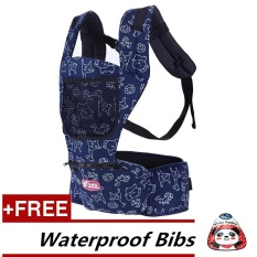 Hot Jual Fashion Multicolor Pembawa Bayi Shoulders Backpack + Free Waterproof Bibs [Membeli 1 Mendapatkan 1 Gratis]- INTL