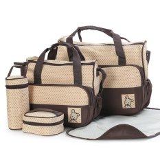 Hot Selling Gaya Baru Berkualitas Tinggi 5 Setiap Set Tangan Tas Popok Tahan Lama Bag Mummy Bag Tas Bayi untuk Ibu -Intl