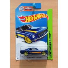 Hot Wheels '65 Mustang 2+2 Fastback Blue 2015 #242/250 - 3D35bd - Original Asli
