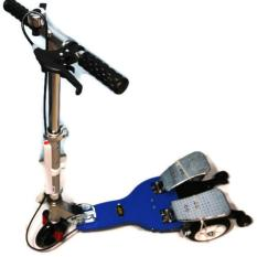 Beli Hp Scooter Elite 3 Roda Tebal Bertekstur 2 Pedal Metal Full Lampu Led Warna Warni Di Tiang Dan Roda Depan Biru Online Terpercaya