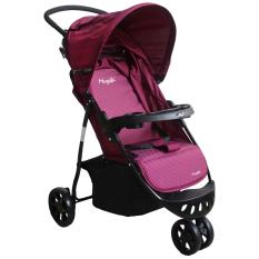 Harga Hugo Starlight Baby Stroller Kereta Dorong Bayi 3 Roda Ungu Putih Terbaik