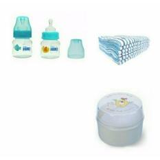 Huki Botol Susu Bayi 60ml + Alas Ompol Bayi 6pcs + Tenpat Bedak Bayi 1pcs