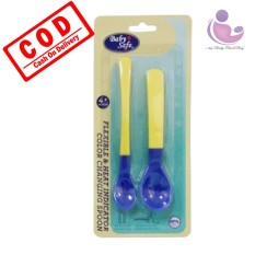 I-Shop Baby Safe Flexible & Heat Indicator Spoon / Sendok Makan Bayi / Bs350 By I-Shop Surabaya.