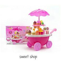 Ice Cream Set Trolley Ice Cream Lollipop Mainan Murah Eskrim - Q1w4ip