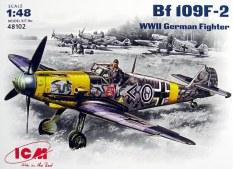 ICM Model Militer Model Bf109f-2 Perang Dunia II Pesawat Tempur