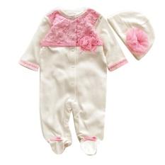Pusat Jual Beli Igm Bayi Yang Baru Lahir Baby Girls Cap Hat Romper Bodysuit Pakaian Bermain Pakaian Set Pakaian Putih Intl Hong Kong Sar Tiongkok