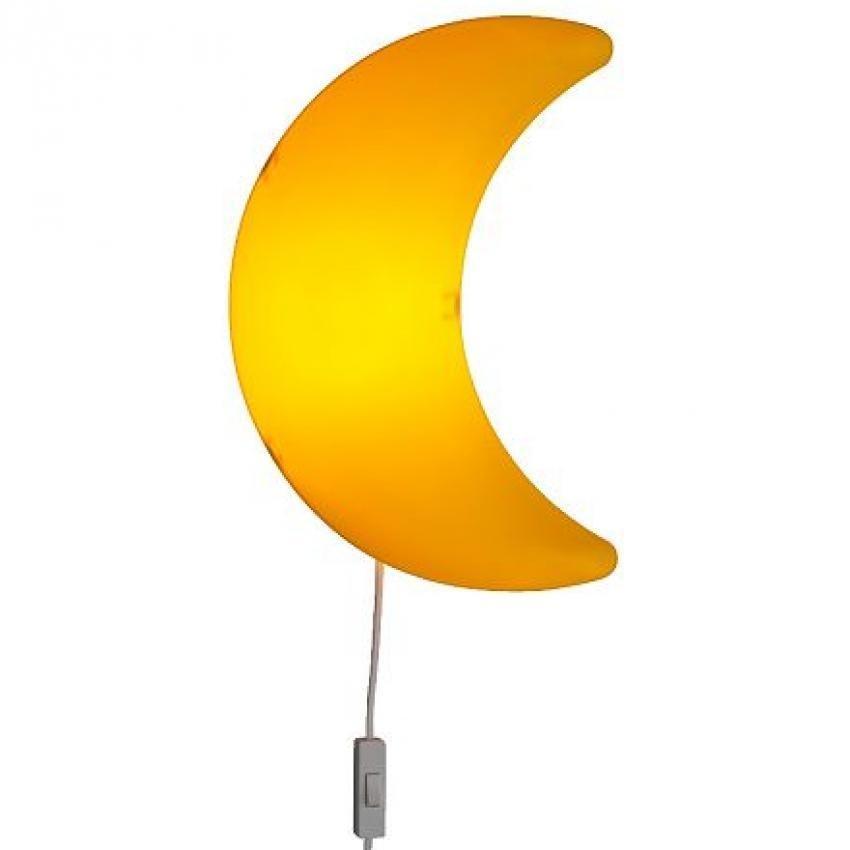 IKEA Smila Mane - Lampu Dinding / Lampu Tidur Kamar Anak Motif Bulan - Kuning