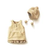 Penawaran Istimewa Ilovebaby Cantik Bayi Perempuan Rompi Bulu Domba Rok Gaun Onepiece Dilengkapi Dengan Topi Terbaru