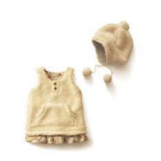 Ilovebaby Cantik Bayi Perempuan Rompi Bulu Domba Rok Gaun Onepiece Dilengkapi Dengan Topi Terbaru
