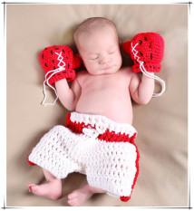Spesifikasi Ilovebaby Petinju Gaya Fotografi Bayi Imut 3 Bulan Sangga Merajut Kostum Yang Ditetapkan Paling Bagus