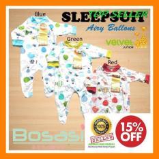 IMPORT Sleepsuit Baju Tidur Bayi Tutup Kaki Velvet Junior Size 0 3 Bl