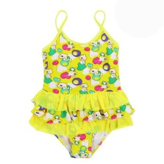 (Diimpor)-NGHK Korea Fashion Indah Gadis Swimwear Arena Dua Piece-Intl