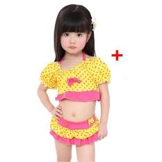 (Imported)BEST-HTIU Korea Fashion Lovely Girl Kids Swimwear Arena Two Piece - intl