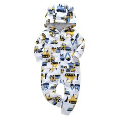 Beli Bayi Bayi Boys Girls Lebih Tebal Excavator Hooded Romper Jumpsuit Pakaian Pakaian Intl Terbaru