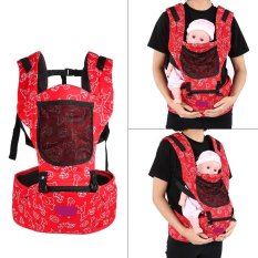 Spek Buy One Get One Hadiah Gratis Bayi Bayi Pembawa Hip Kursi Hardly Breathe Adjustable Wrap Sling Backpack Merah
