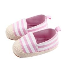 Bayi Sepatu Bayi Balita Kanvas Klasik Striped Sepatu Pertama Walker Sepatu Intl Tiongkok
