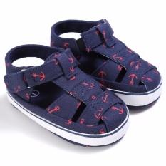Diskon Bayi Children Gadis Boys Look Lembut Sole Crib Sandal Balita Baru Lahir Sneakers Sepatu Biru Oem
