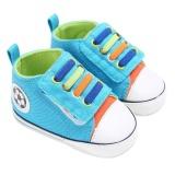 Harga Bayi Sepatu Kets Bayi Baby Boys Girls Soft Sole Crib Sepatu Bayi Baru Lahir Biru Biru Inch 6Months Intl New