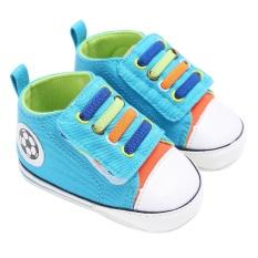 Tips Beli Bayi Sepatu Kets Bayi Baby Boys Girls Soft Sole Crib Sepatu Bayi Baru Lahir Biru Biru Inch 6Months Intl Yang Bagus
