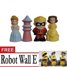 Infinity Figure Dash ,Pagoda Dan Putri +Gratis Robot Wall E