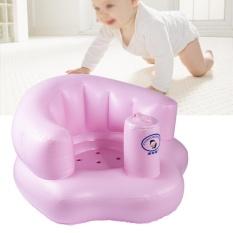 Inflatable PVC Sofa Bayi Bayi Belajar Stool Training Seat Portable Anak Baju Kursi Makan-Intl