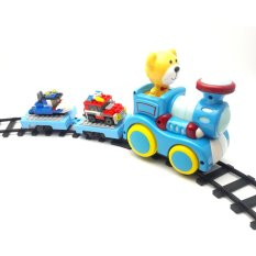 Beli Inini Mainan Kereta Api Train Track With Construction Blocks Biru Seken