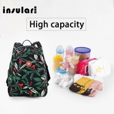 Insular Maternity Baby Bag Mummy Large Bag Fashion Printed Floral Backpack - intl