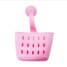 InterDesign GIA Kitchen Sink Suction Holder untuk Spons, Scrubber, Sabun-Stain Pink-Intl