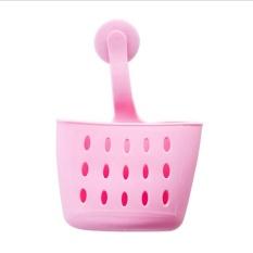 InterDesign GIA Kitchen Sink Suction Holder untuk Spons, Scrubber, Sabun-Stain Pink-Intl