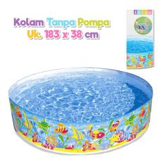 Intex 56452 Kolam Renang Anak Tanpa Pompa Tiup Uk 183 X 38 Cm Asli