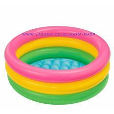 INTEX® Baby Pool Portable±61cm x 22cm Kolam Renang Pelangi / Mandi Anak 1-3 Tahun [24 inchix 8.5 inchi]