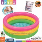 Spesifikasi Intex Kolam Renang Anak Bayi Baby 61 X 22Cm Repair Kit Lem Kolam Pelangi Sunset Glow Baby Pool 57402 Lengkap