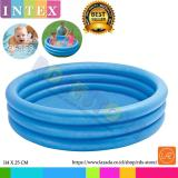 Promo Intex Kolam Renang Anak Crystal Blue Pool 3 Ring For Baby 114Cm X 25Cm Intex