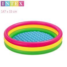 Diskon Intex Kolam Renang Anak Sunset Glow Baby Pool 3 Ring Intex Di Banten